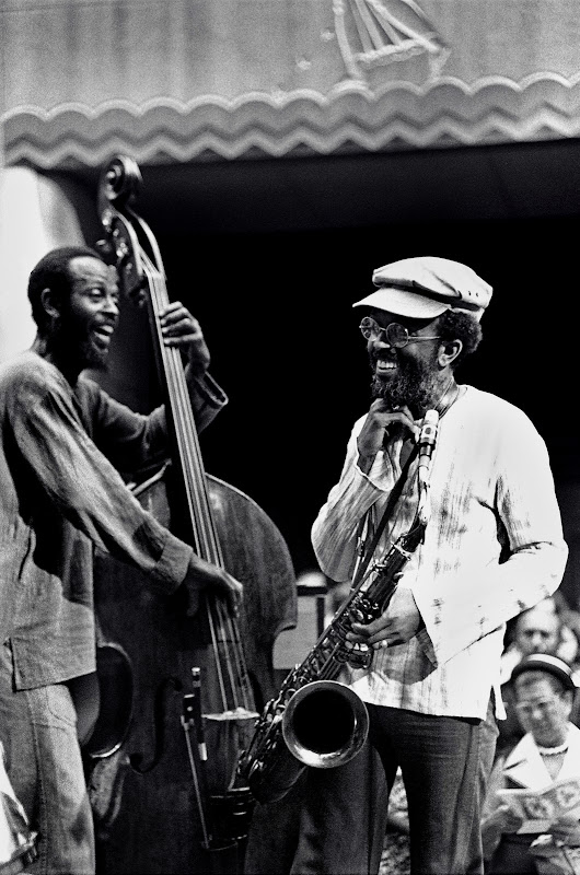 Percy Heath & Jimmy Heath smiling NYC Rockerfeller Center June, 1977.jpg