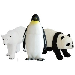 Endangered animals USB Flash Drive Trio