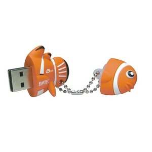 The Aquarium range Clown fish USB memory stick