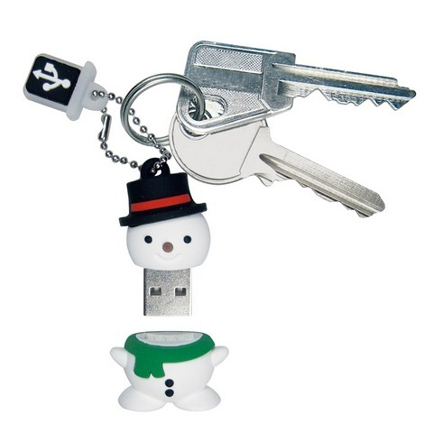 Keychain Snowman USB flash drive