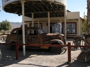 remnants of a different era in Shoshone, CA