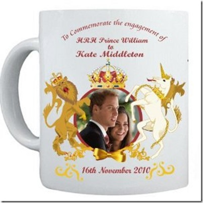 Prince William and Kate Middleton ENGAGEMENT Commemorative Coffee Mug Cup