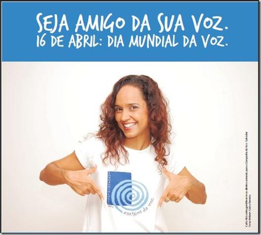 Banner da Campanha do dia da Voz 2010, com Carla Visi
