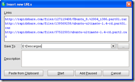 FreeRapid Downloader 0.8.2! Easy download from file hosting services like Rapidshare , Megaupload etc.