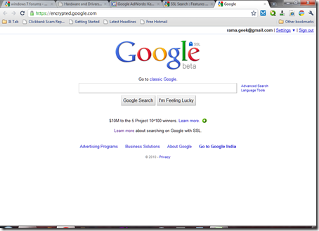 Safe Secure Encrypted Google Search : SSL Search