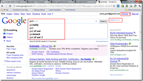 Disable Stop Remove Google Instant Search