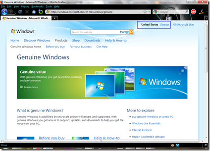Windows 7 Genuine Advantage