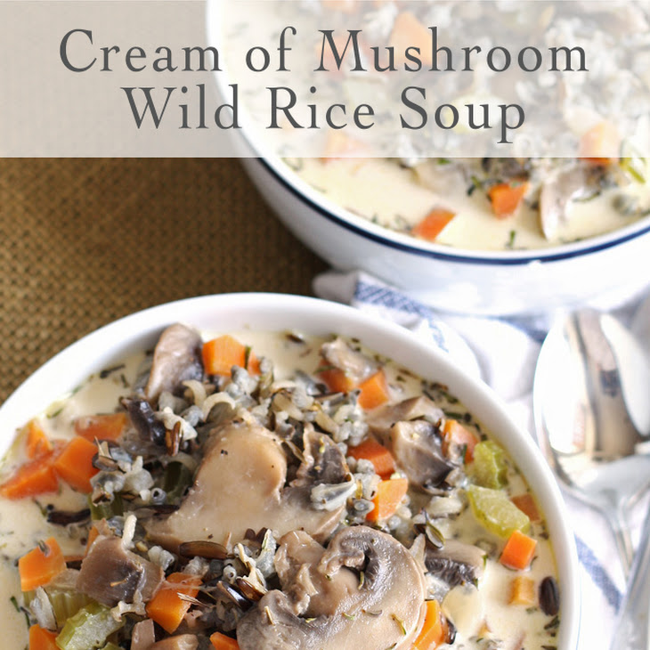 Cream of Mushroom Wild Rice Soup Recipe | Yummly