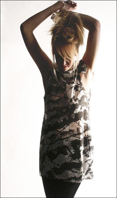 Burnt holes dress