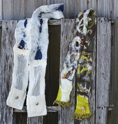 Two Felted Scarves