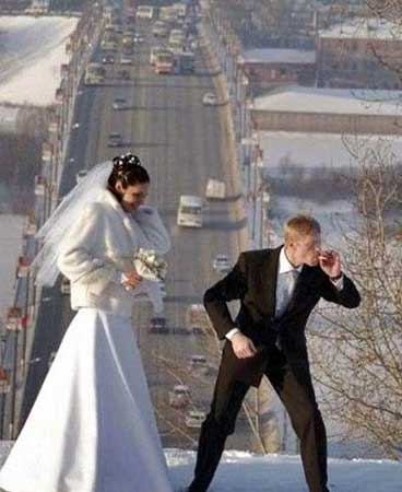 Fotos que vc nunca verá em um álbum de casamento