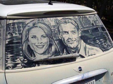 Arte Suja em carros