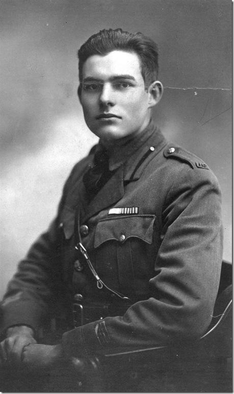 Hemingway as a soldier