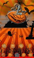 Screenshot of Halloween Evil Pumpkin Clock