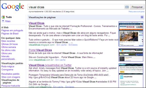 iVisualização de Páginas do Google