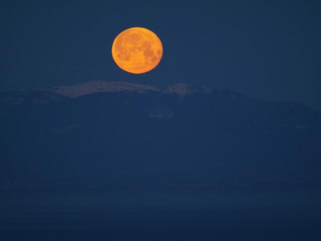 Coucher de lune, hier matin AG013431