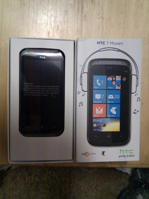 HTC Mozart 7 Windows Phone 7 un boxing