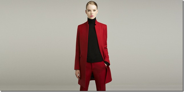 red suit color block