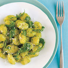 Gnocchi with Walnut-Arugula Pesto