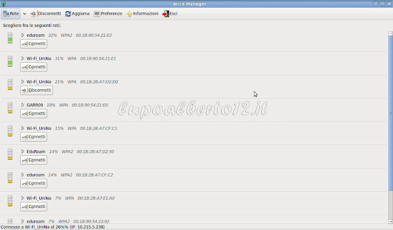Elenco reti Wi-Fi_UniNa con Mac Address diversi