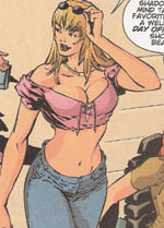 Black Canary in a crop top