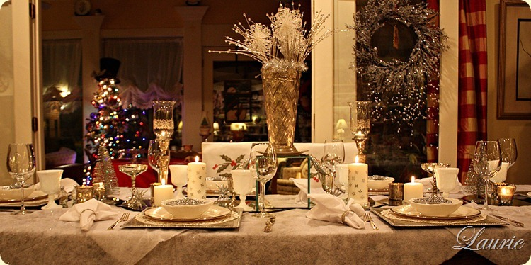 Christmas Tablescape-Bargain Decorating with Laurie