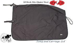 Zilco All Black Waterproof Quarter Sheet Rug
