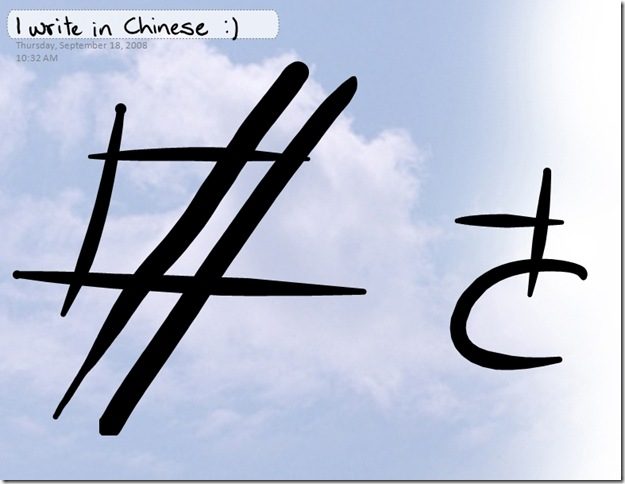 I write in Chinese