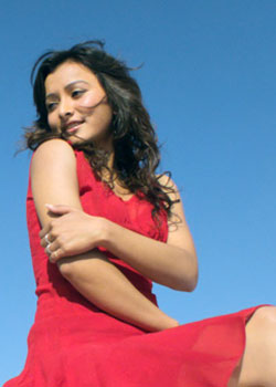 namrata shrestha red dress