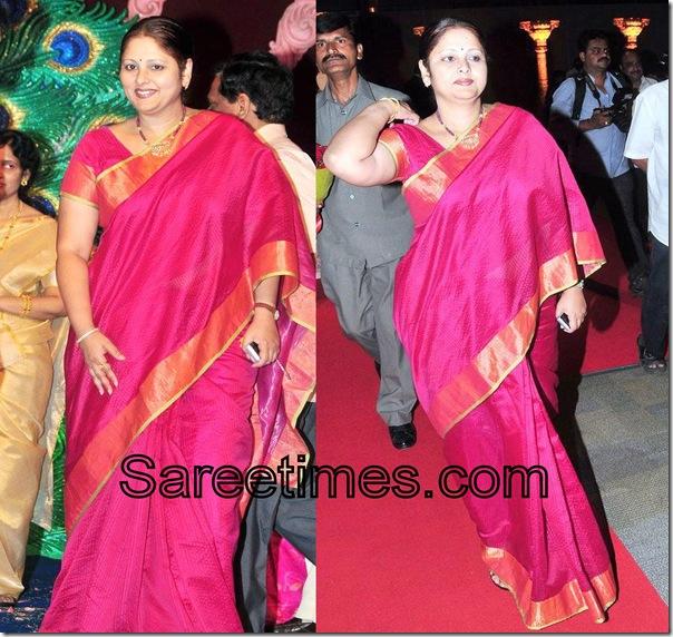 Jaya_Sudha_Red_Embllidhed_Saree