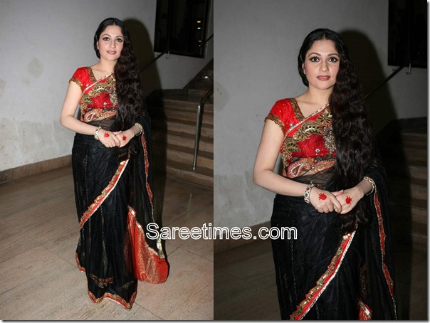 Gracy_Singh_Black_Designer_Saree