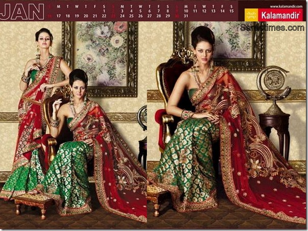 Red_Green_Designer_Kalamandir_Saree