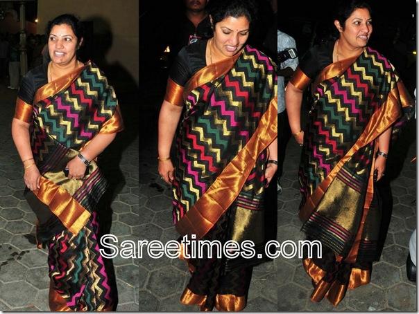 Purandeswari_Black_Designer_Saree