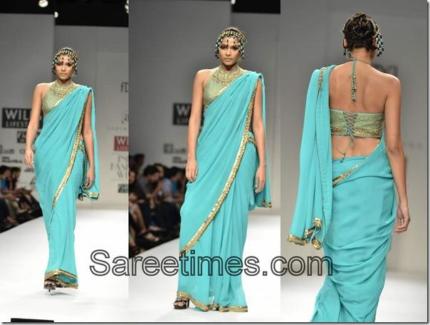 Ashima_Leena_Blue_Designer_Saree