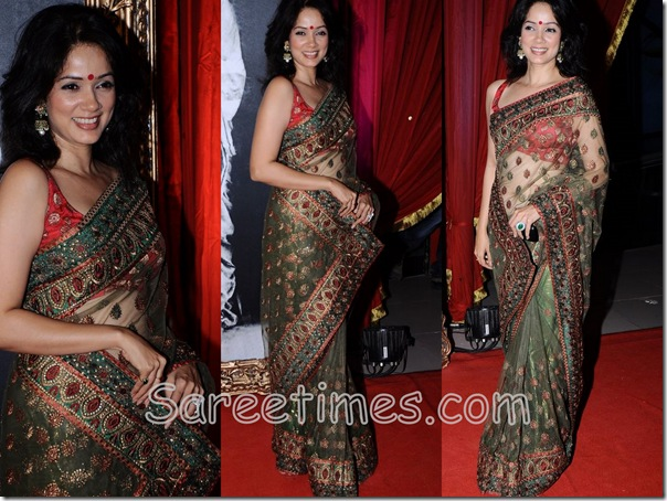 Vidya_Malwade_Green_Designer_Saree