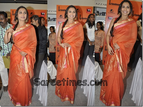Rani_Mukherjee_Orange_Designer_Saree