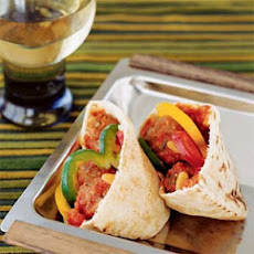 Lamb and Eggplant Meatball Pita Sandwiches