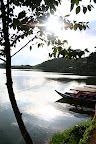 Lac Patengan avec son rocher de l'amour et sa legende