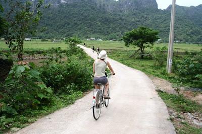 Ballade à vélo dans les rizières