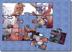 puzle azul