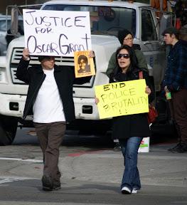 Oscar Grant protestors