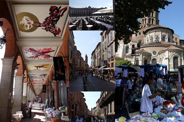Toulouse, St Sernin flea markets