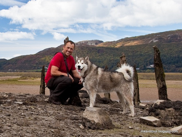 Mike and Munson - Mawddach Trail - close-up
