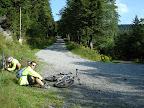 Niefajne było to, że powoli dzień się kończył a my mieliśmy jakieś 50km asfaltu do domu... oczywiście w większości pod gore :/