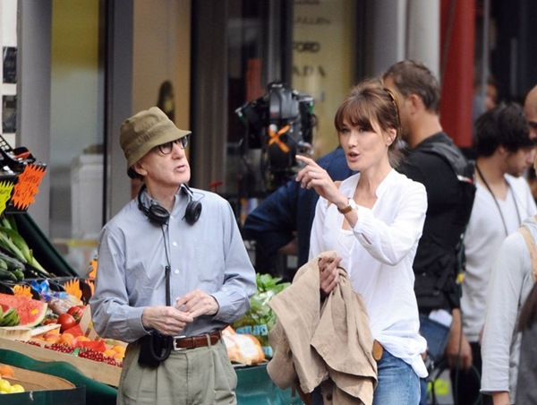 Carla Bruni_Woody Allen y Carla Bruni
