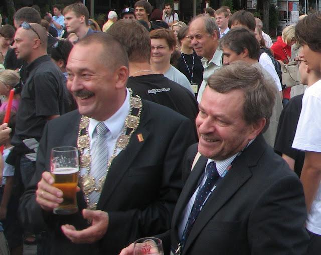 Primarul din Cieszyn împreună cu Dave Lally