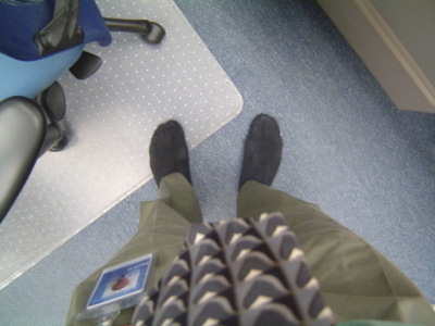 image of my stocking feet