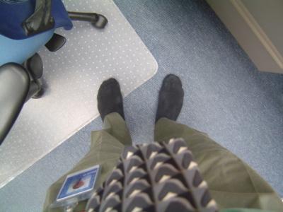 image of my stocking feet