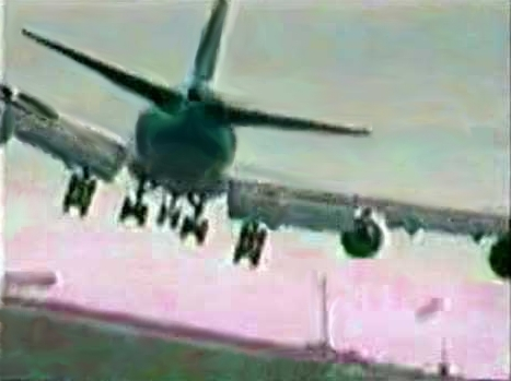 image of landing airliner