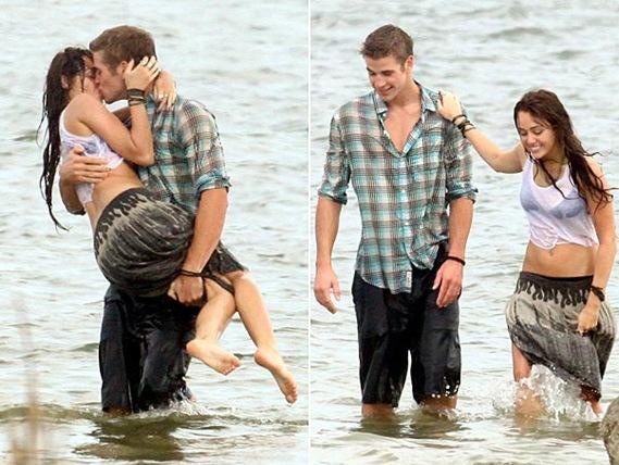 Miley besa a Liam